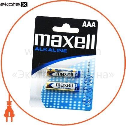 Maxell 723920.04 щелочная батарейка maxell alkaline aaа/lr03 2шт/уп blister