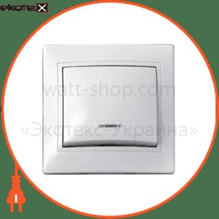 выключатель 1-кл. с подсветкой bbсб10-1-1-fl-w арт. bbсб10-1-1-fl-w выключатель АСКО-УКРЕМ