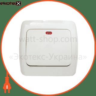 BBсб10-1-1-Sq-W АСКО-УКРЕМ выключатель выключатель 1-кл. с подсветкой bbсб10-1-1-sq-w
