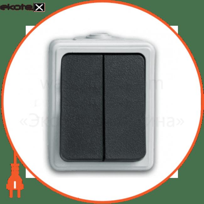C-SD-1265 Electrum выключатель выключатель двухклавиш., накладной  - c-sd-1265