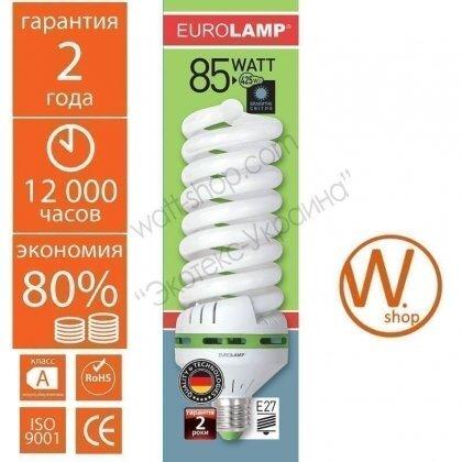 t5 spiral 85w 6500k e27 энергосберегающие лампы eurolamp Eurolamp