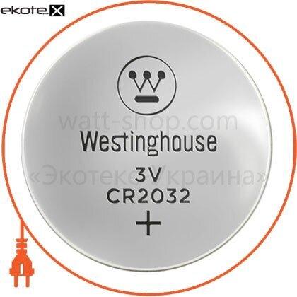 """Westinghouse 889554001523 литиевая батарейка westinghouse lithium """"таблетка"""" cr2032 1шт/уп blister"""
