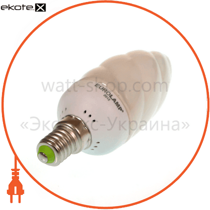 candle twisted 9w 4100k e14 энергосберегающие лампы eurolamp Eurolamp
