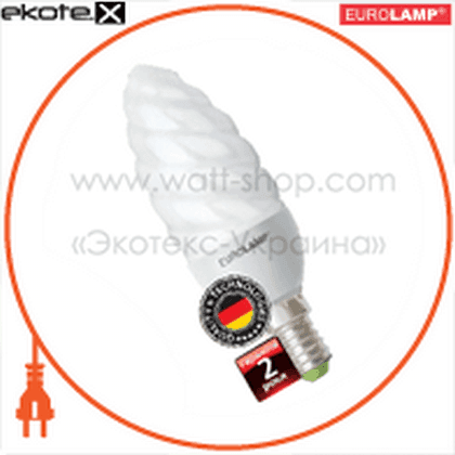 CT-09144 Eurolamp энергосберегающие лампы eurolamp candle twisted 9w 4100k e14