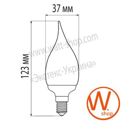 eurolamp клл candle on wind 9w 2700k e14 (100) энергосберегающие лампы eurolamp Eurolamp CW-09142