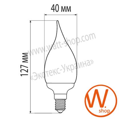 candle flame 11w 4100k e14 энергосберегающие лампы eurolamp Eurolamp CW-11144