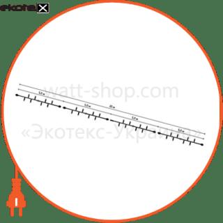 наружная уличная гирлянда-нить string light на резиновом кабеле, мультиколор конструкции Люмьер EL20-160M