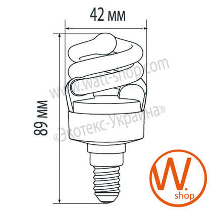t2 spiral 7w e14 2700k энергосберегающие лампы eurolamp Eurolamp ES-07142