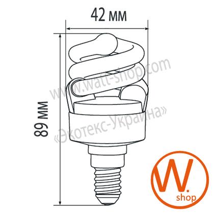 t2 spiral 7w e14 4100k энергосберегающие лампы eurolamp Eurolamp ES-07144