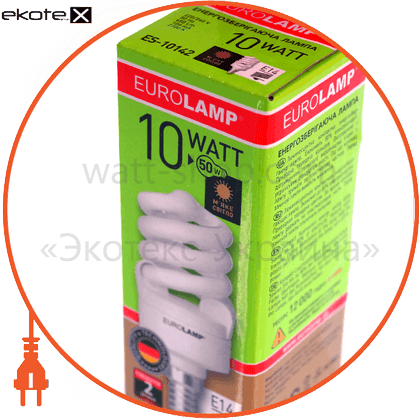 t2 spiral  10w e14 2700k энергосберегающие лампы eurolamp Eurolamp ES-10142