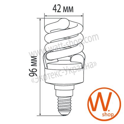 t2 spiral  10w e14 2700k энергосберегающие лампы eurolamp Eurolamp