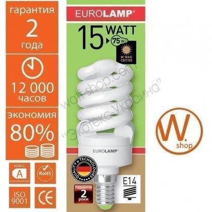 ES-15142 Eurolamp энергосберегающие лампы eurolamp t2 spiral  15w e14 2700k