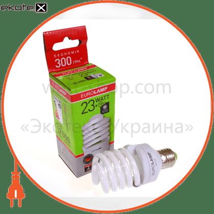 t2 spiral  23w e27 2700k энергосберегающие лампы eurolamp Eurolamp
