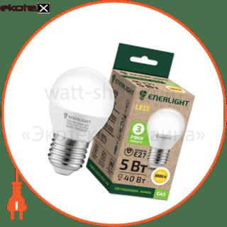 лампа світлодіодна enerlight g45 5вт 3000k e27 светодиодные лампы enerlight Enerlight G45E275SMDWFR