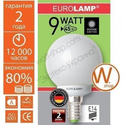 globe 9w 4100k e14 энергосберегающие лампы eurolamp Eurolamp