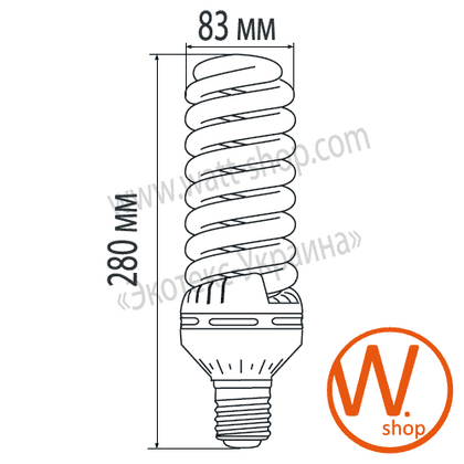 t5 spiral 110w 6500k e40 энергосберегающие лампы eurolamp Eurolamp HB-004065