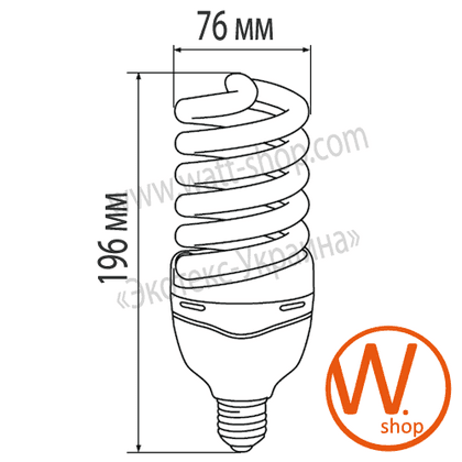 eurolamp клл t4 spiral 45w 2700k e27 (20)