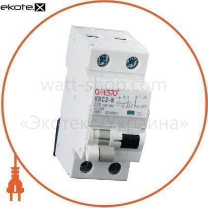 Дифавтомат ONESTO 1п+N, 20А, 30mA , тип AC, RCBO (KRCS2-N)