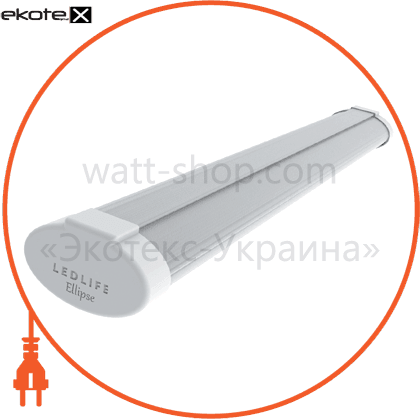 """pro """"ellipse"""", 1500 мм, 46w, 5290lm, 3000к, матовый рассеиватель, ip65 светодиодные светильники ledlife Ledlife LE3-1500-2M-W/N/C"""