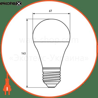 """eurolamp led лампа еко серія """"d"""" а70 20w e27 4000k светодиодные лампы eurolamp Eurolamp LED-A70-20274(D)"""