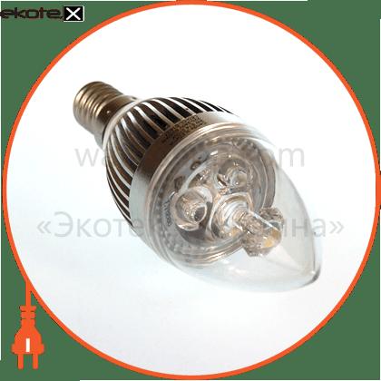 led лампа candle 3w e14 2700k eurolamp светодиодные лампы eurolamp Eurolamp LED-CL-E14/27