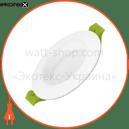 eurolamp led світильник круглий downlight exclusive 5w 3000k