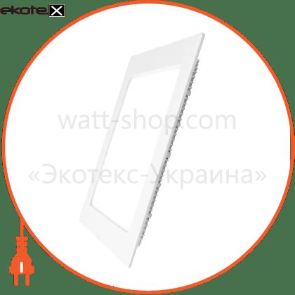 eurolamp led світильник квадратний downlight new 6w 4000k (40)
