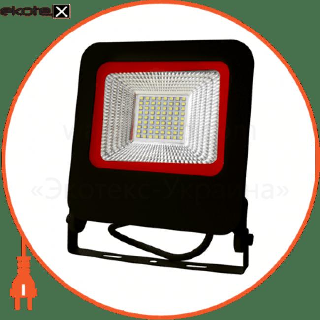 euroelectric led smd прожектор  черный с радиатором new  50w 6500k светодиодные светильники eurolamp Euroelectric LED-FL-50(black)new