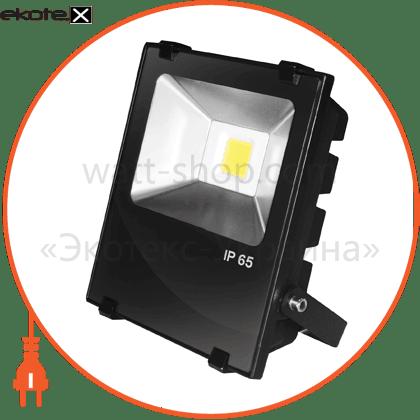 cob черный с радиатором 10w 6500k светодиодные светильники eurolamp Eurolamp LED-FLR-COB-10
