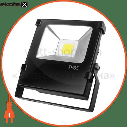 euroelectric led cob прожектор чорний з радіатором 20w 6500k modern светодиодные светильники eurolamp Eurolamp LED-FLR-COB-20