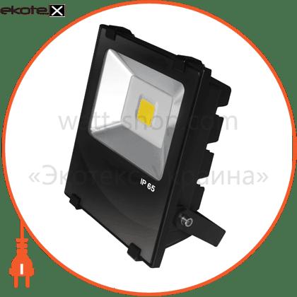 euroelectric led cob прожектор чорний з радіатором 30w 6500k modern светодиодные светильники eurolamp Eurolamp LED-FLR-COB-30