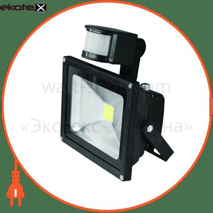 euroelectric led cob прожектор з датчиком руху 10w 6500k светодиодные светильники eurolamp Eurolamp LED-FL-10(sensor)