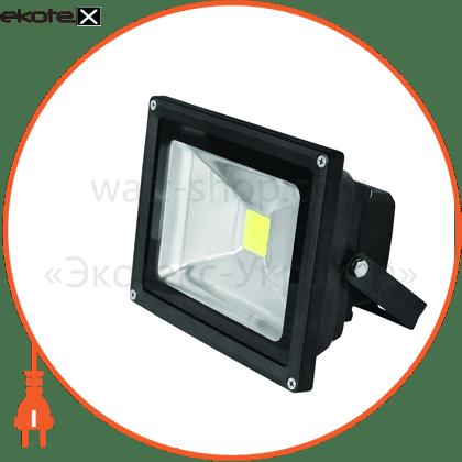 euroelectric led прожектор cob чорний 30w 6500k classic светодиодные светильники eurolamp Eurolamp LED-FL-30(black)
