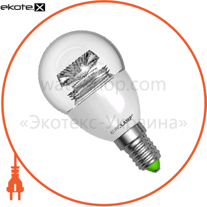 "eurolamp led лампа еко серія ""d"" g45 прозора 5w e14 3000k светодиодные лампы eurolamp Eurolamp LED-G45-05143(D)clear"