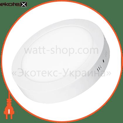 eurolamp led світильник накладний матовий круглий new 18w 4000k светодиодные светильники eurolamp Eurolamp LED-NLR-18/4(F)new