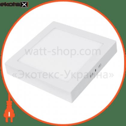 eurolamp led світильник квадратний накладний матовий 6w 4000k (20)