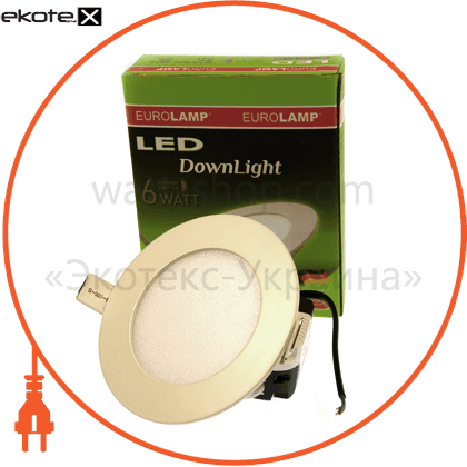 led panel (кругл,) 6w 4000k 220v светодиодные светильники eurolamp Eurolamp LED-PLR-6/4
