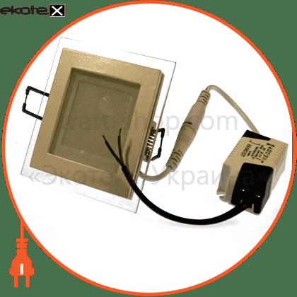 Eurolamp LED-PLS-6/3(скло) led panel (квадр.) 6w 3000k 220v скло