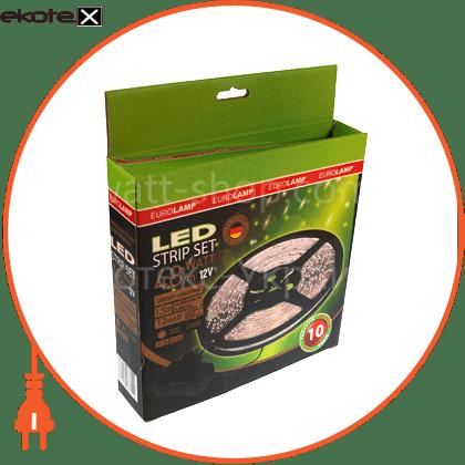 led 3528, 60 диодов/м, 5м, 12v, блок питания 24w светодиодная лента eurolamp Eurolamp LED/SET-5m/2700K