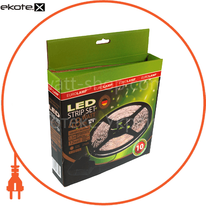 3528, 60 диодов/м, 5м, 12v, блок питания 24w светодиодная лента eurolamp Eurolamp LED/SET-5m/4100K
