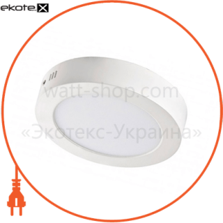 светодиодный светильник ledex, круг, накладной,  6w,  6500к холодно белый, матовое стекло, напряжение: ac100-265v, алюминий светодиодные светильники ledex Ledex 102166