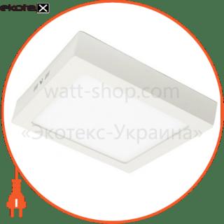 светодиодный светильник ledex, квадрат, накладной,  18w,  4000к нейтральный, матовое стекло, напряжение: ac100-265v, алюминий светодиодные светильники ledex Ledex 102222