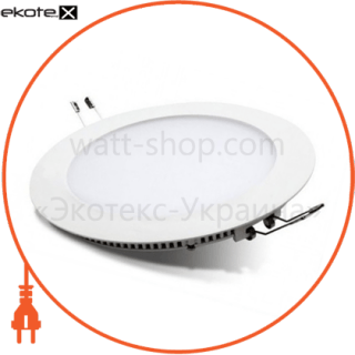 светодиодный светильник ledex, круг,  8w,  4000к нейтральный, матовое стекло, напряжение: ac100-265v, алюминий, тонкий светодиодные светильники ledex Ledex 102233