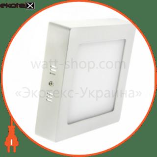 светодиодный светильник ledex, квадрат, накладной,  12w,  4000к нейтральный, матовое стекло, напряжение: ac100-265v, алюминий светодиодные светильники ledex Ledex 102221