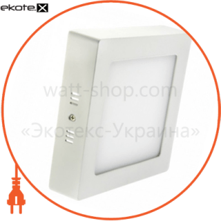 светодиодный светильник ledex, квадрат, накладной,  18w,  6500к холодно белый, матовое стекло, напряжение: ac100-265v, алюминий светодиодные светильники ledex Ledex 102172