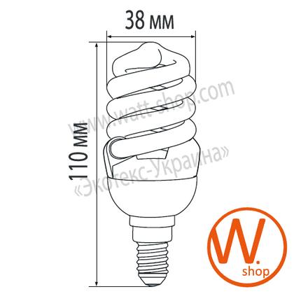 t2 spiral 9w 2700k e14 энергосберегающие лампы eurolamp Eurolamp LN-09142