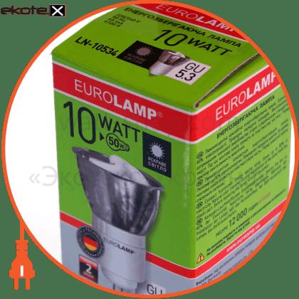 tochka mr16 gu 5.3 10w 2700k скло энергосберегающие лампы eurolamp Eurolamp LN-10532(F)