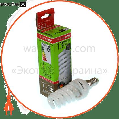 t2 spiral 13w 2700k  e14 энергосберегающие лампы eurolamp Eurolamp LN-13142