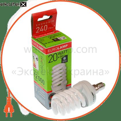 t2 spiral 20w 2700k e14 энергосберегающие лампы eurolamp Eurolamp LN-20142