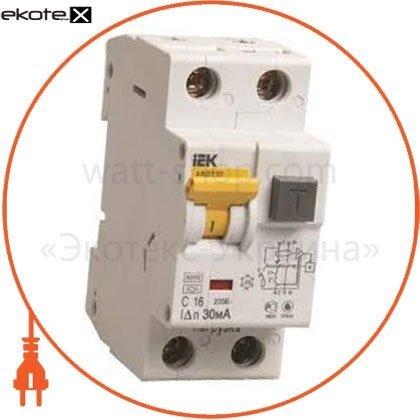 IEK MAD25-5-016-C-30 автоматический выключатель дифференциального тока авдт32 c16 generica